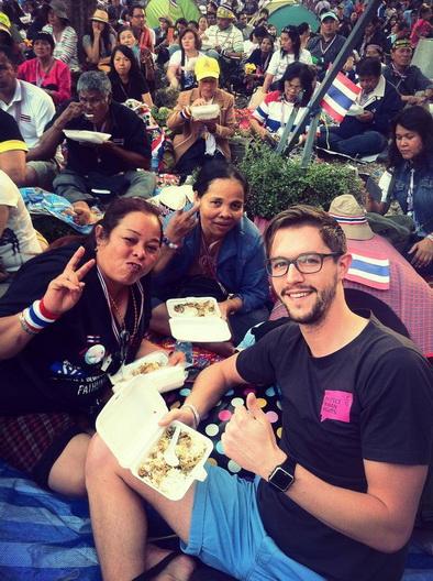 The backpacker intern Mark  Bkk shutdown