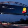McDonald's ทำบิลบอร์ดอัจฉริยะ เล่นกับความหิวโหยของคนบนถนนที่รถแสนติด