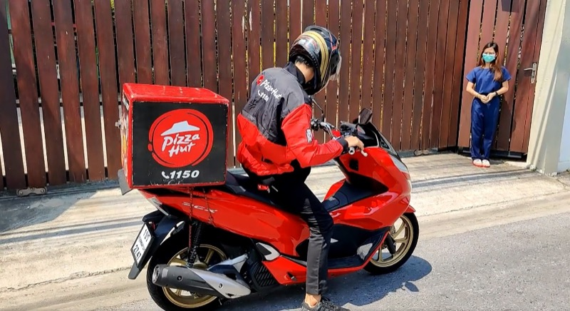 Pizza Hut Delivery boy