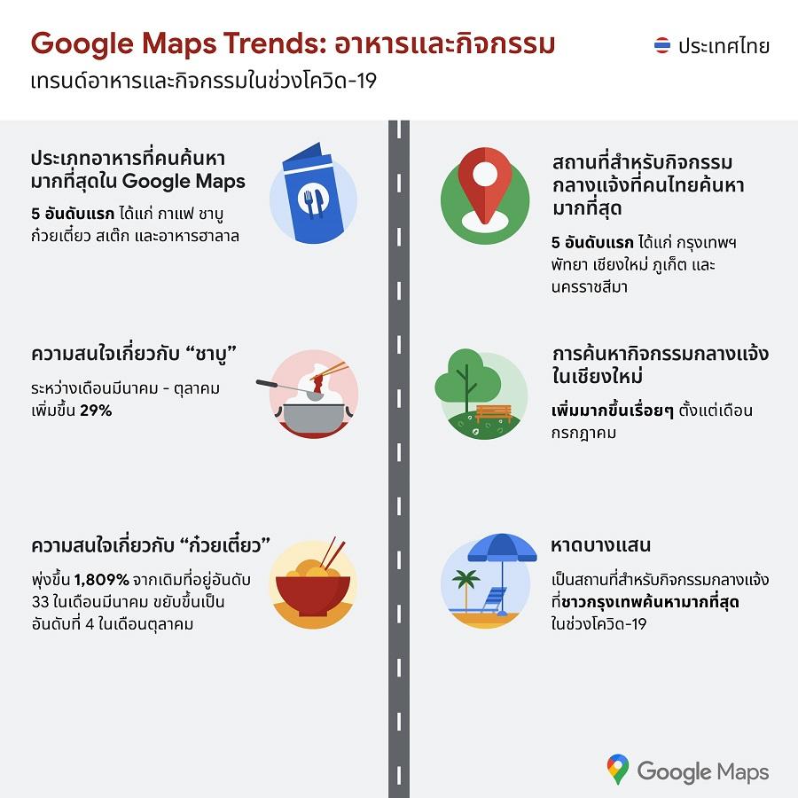 google map search trend ชาบู ร้านกาแฟ ก๋วยเตี๋ยว