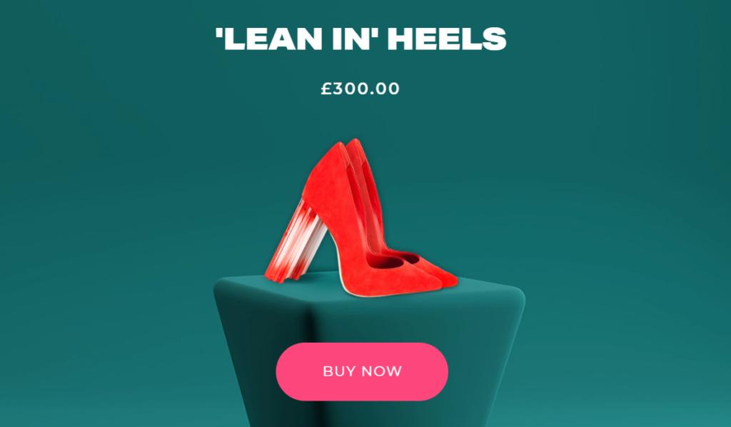 lean in heels