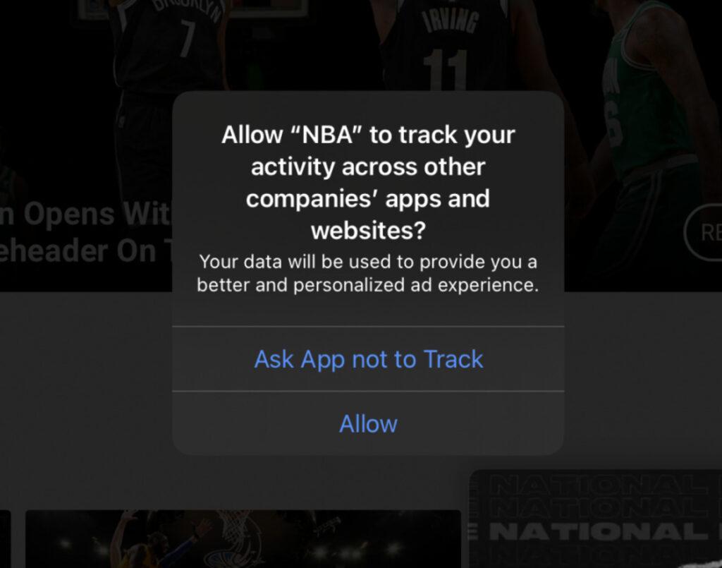 macrumor ios14 tracking transparency facebook apple