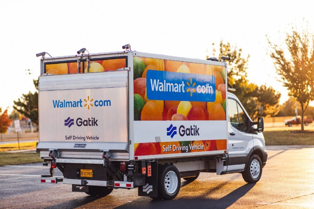 walmart driverless car gatik back วอลมาร์ท