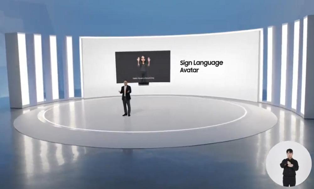 samsung sign avatar tv
