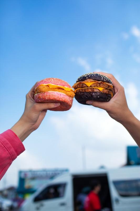 Burker King Black and Pink Burger