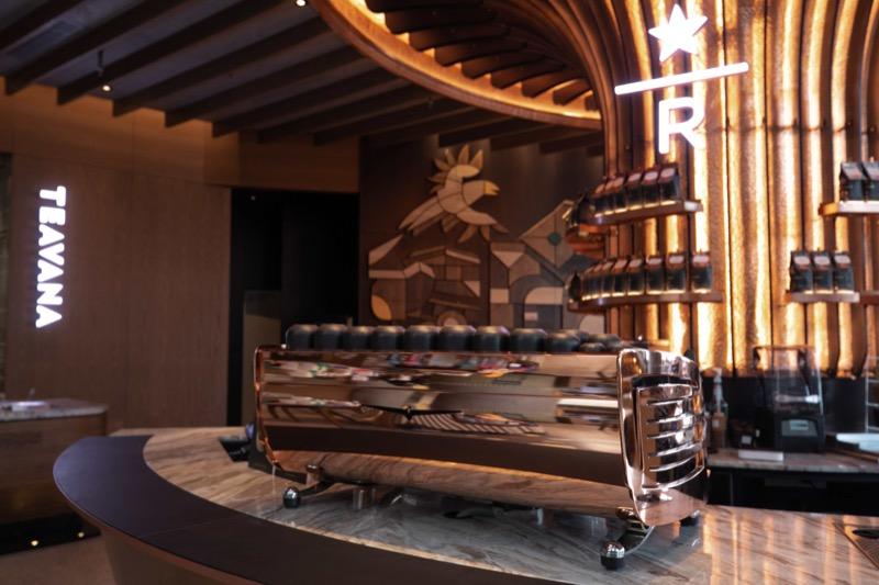 Starbucks Reserve Bar - Black Eagle espresso machine in customized copper color