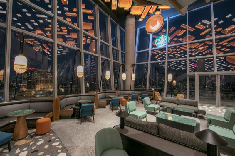 Starbucks Reserve Chao Phraya Riverfront - First floor seating area