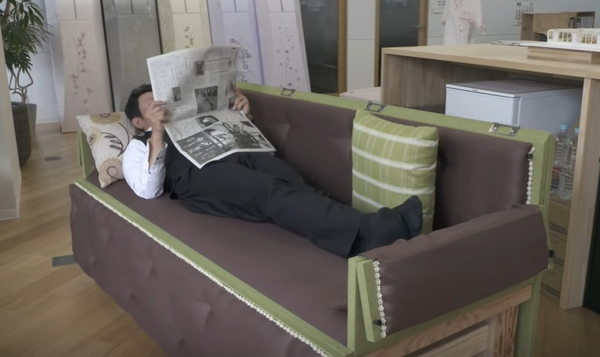 sanwa sofa coffin japan idea