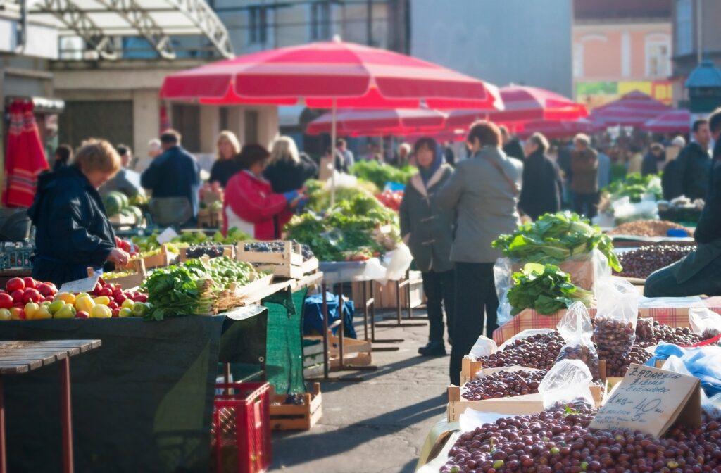 food market vegie price