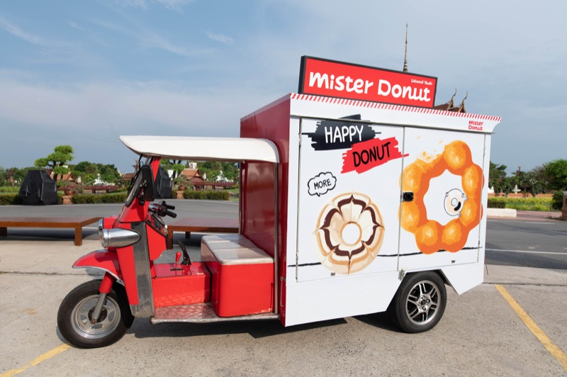 Mister Donut Mobile Tuk Tuk Model