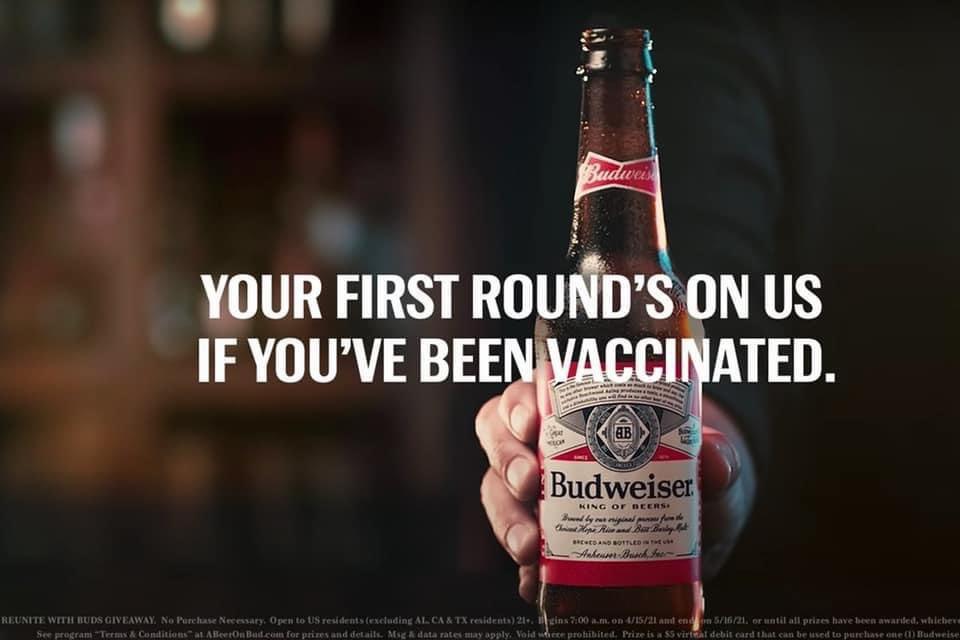 budweiser campaign covid vaccine