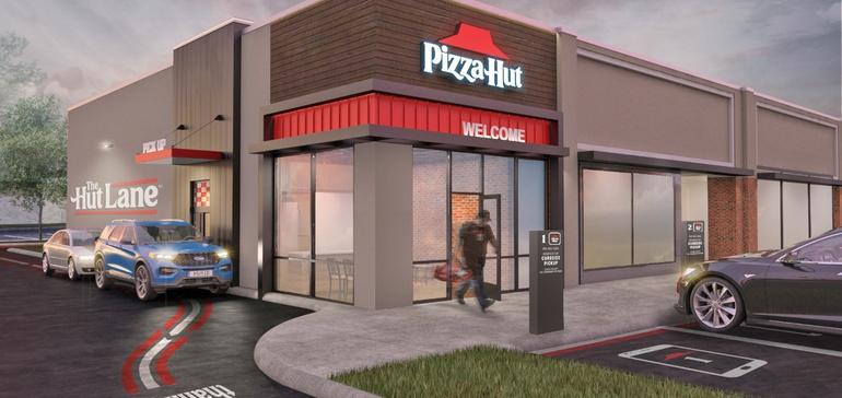 pizza hut lane driv thru