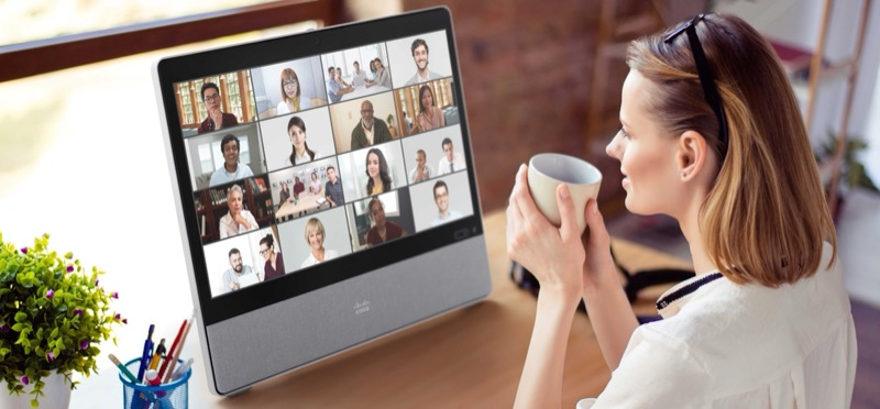 Webex Desk provides a powerful all-in-one collaboration device