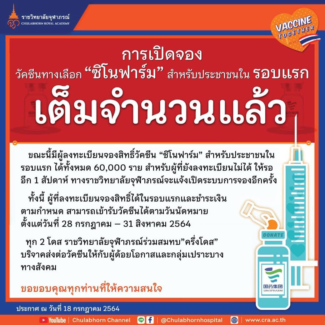 cra sinopharm vaccine